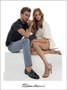 Santoni shoes campagna pubblicitaria primavera estate 2015