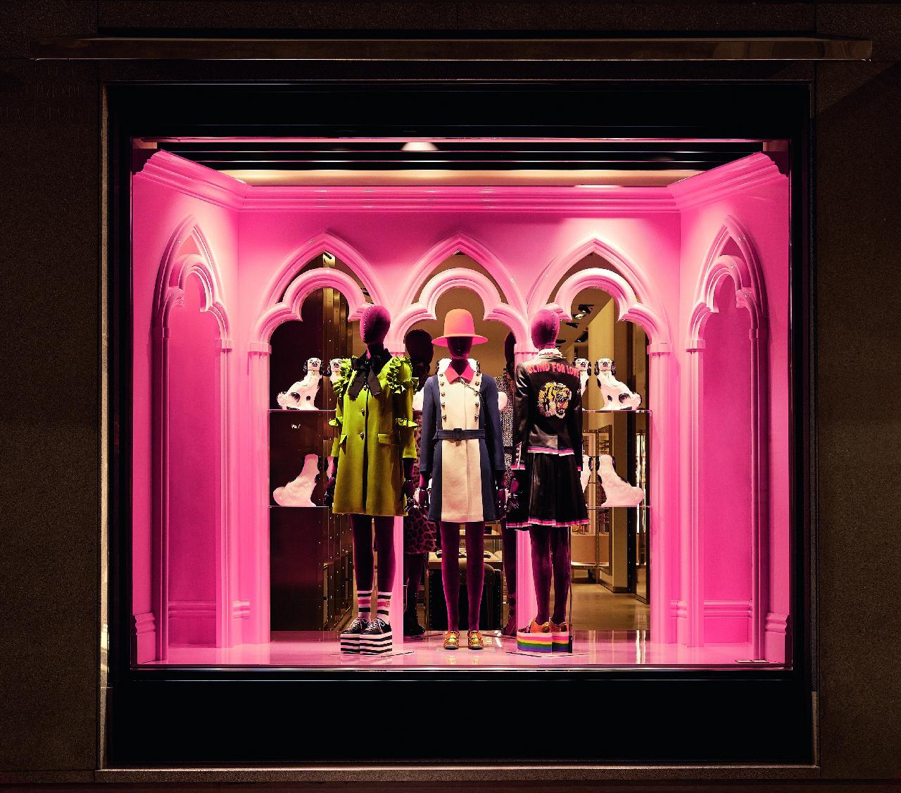 Gucci vetrine Milano