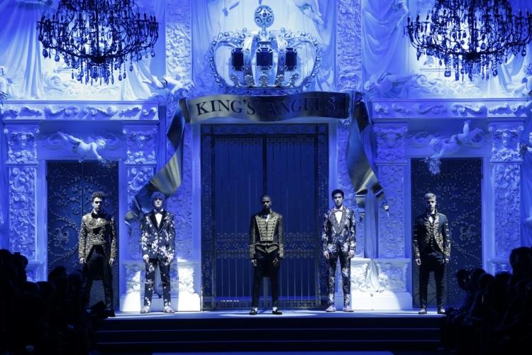 Dolce&Gabbana collezione uomo autunno inverno 2018 2019: la sfilata dei King's Angels