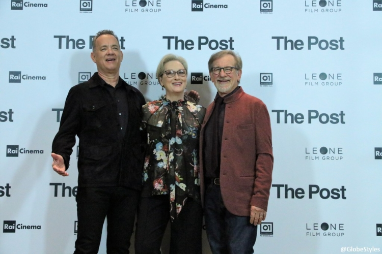 The Post: Meryl Streep, Steven Spielberg e Tom Hanks su Time's Up e Fake News