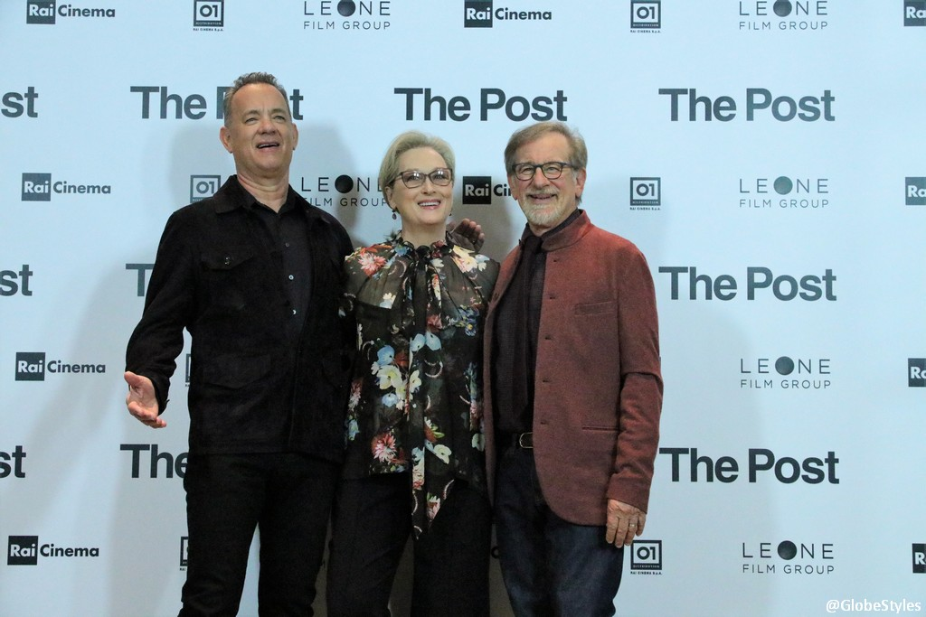 The Post Film Meryl Streep, Tom Hanks, Steven Spielberg