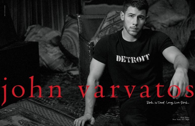 John Varvatos Nick Jonas: la campagna pubblicitaria primavera estate 2018