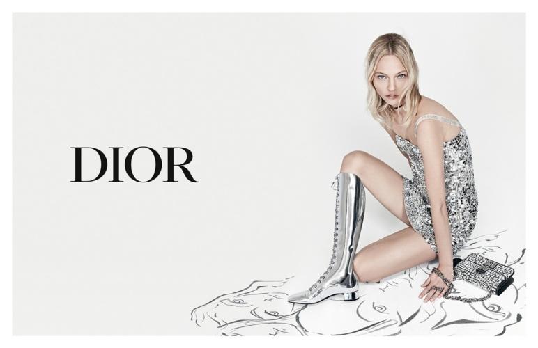 Dior campagna primavera estate 2018: protagonista Sasha Pivovarova