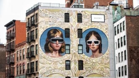 Gucci Art Wall Milano febbraio 2018: i murales di Ignasi Monreal