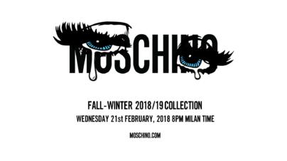 Moschino sfilata donna autunno inverno 2018 2019: la diretta streaming su Globe Styles