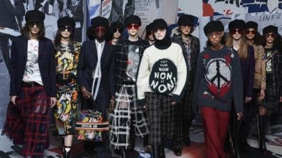 Dior collezione donna autunno inverno 2018 2019: la vitalità del 1968, la sfilata