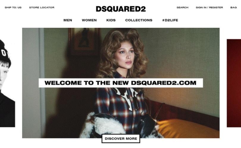 Dsquared2 sito ufficiale: narrazione accattivante e immagini immersive