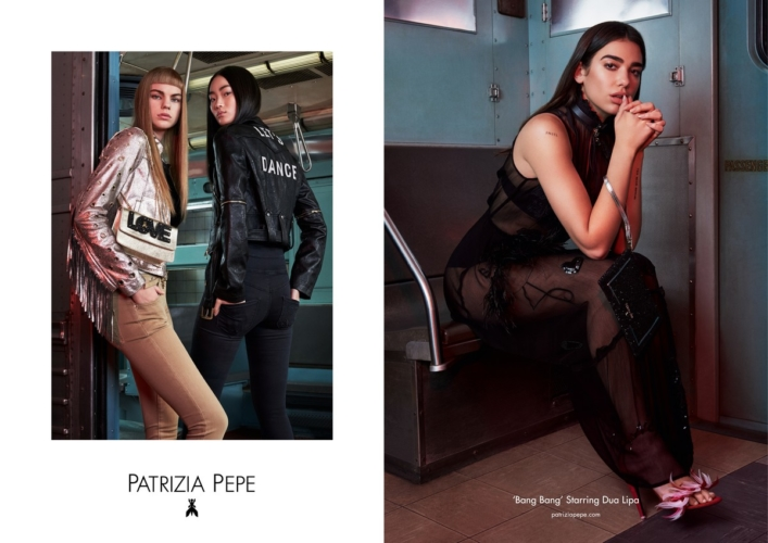 Patrizia Pepe Dua Lipa campagna primavera estate 2018: il nuovo capitolo della Bang Bang story