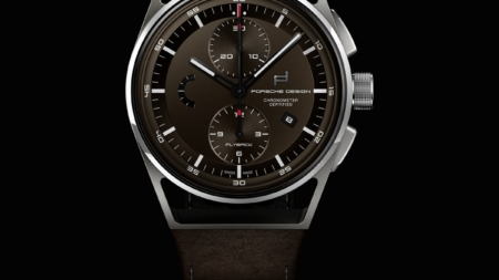 Baselworld 2018 novità Porsche Design: il 1919 Chronotimer Flyback Brown & Leather