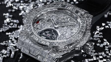Hublot Big Bang Tourbillon Croco High Jewellery: diamanti incastonati e un set su misura da un milione di dollari