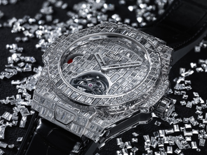 Hublot Big Bang Tourbillon Croco High Jewellery: diamanti incastonati e un set su misura da un milione di dollari