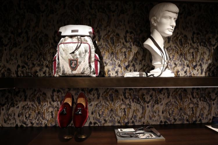 Fuorisalone 2018 Pal Zileri: lo zaino Tadzio e il progetto di restyling della boutique milanese