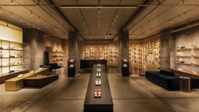 Hogan Milano via Montenapoleone: l'interpretazione scultorea del movimento