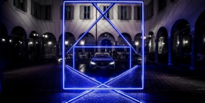 Fuorisalone 2018 Jaguar: l'installazione Jaguar Electrifies Future Perspective