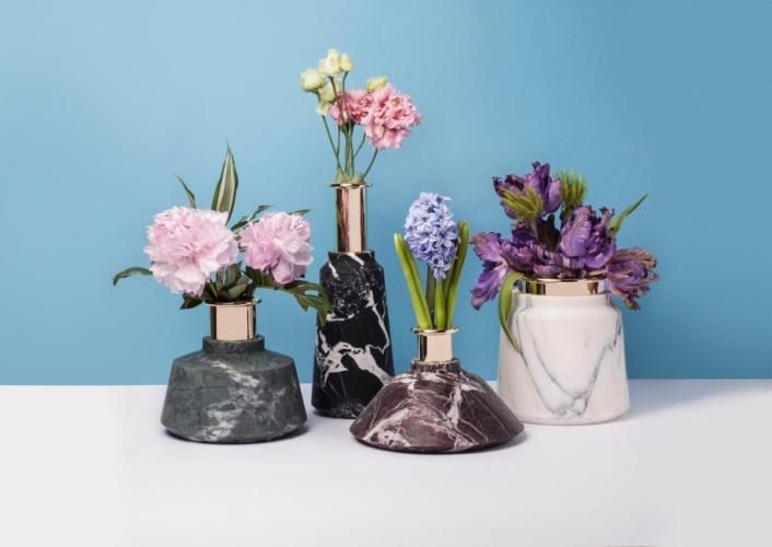Fuorisalone 2018 StoneLab Design: Stoneland, preziosi oggetti per la casa in marmo e metallo