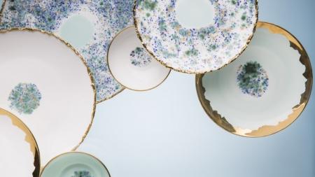 Servizio piatti porcellana moderni 2018 Coralla Maiuri: le nuove collezioni da tavola