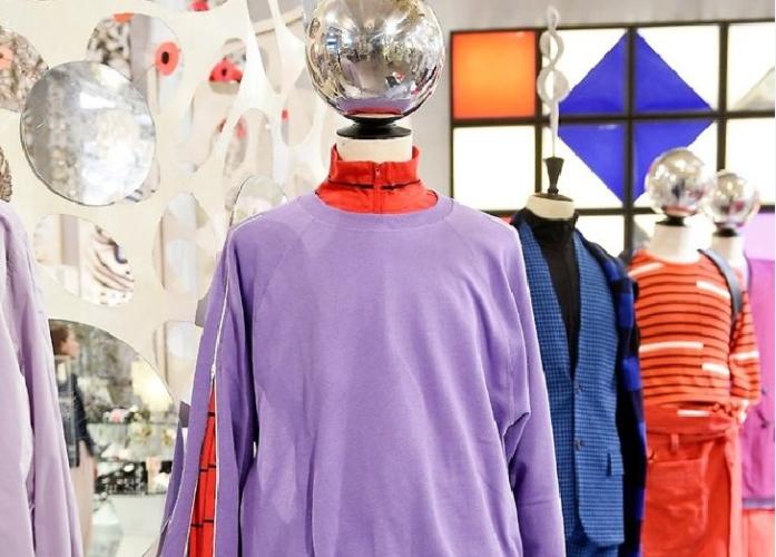 Lucio Vanotti collezione uomo primavera estate 2019: l'estetica hip hop gioca con la Bauhaus