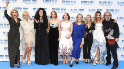 Mamma Mia Ci Risiamo premiere Londra: il red carpet con Meryl Streep, Amanda Seyfried e Cher