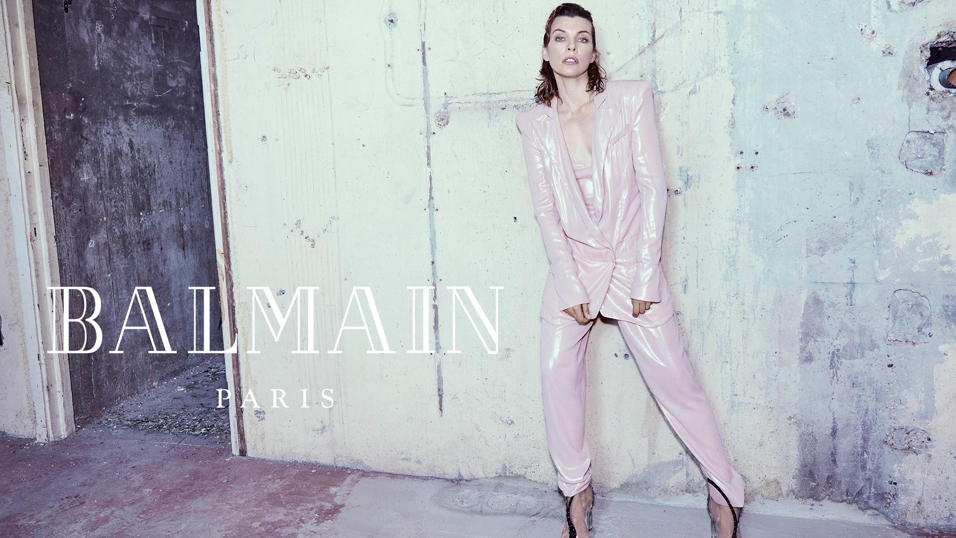 Balmain Milla Jovovich campagna autunno inverno 2018 2019