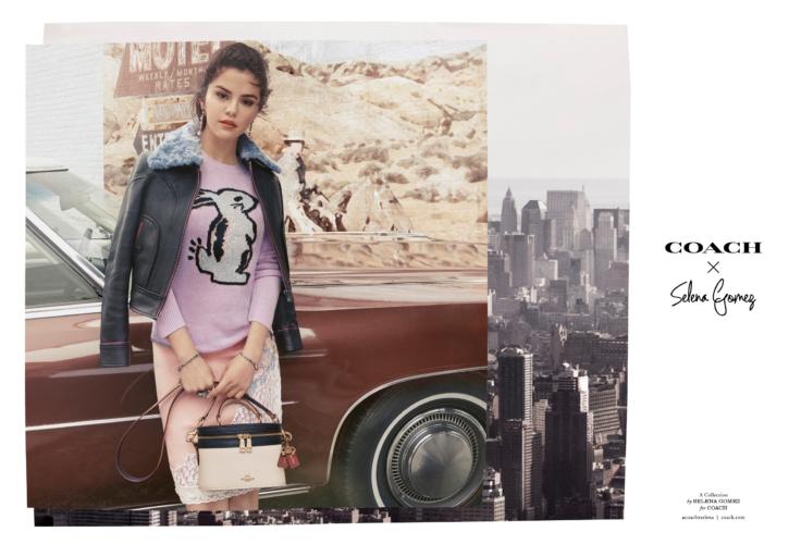 Coach Selena Gomez collezione autunno inverno 2018 2019: la linea prêt-à-porter e due nuove borse