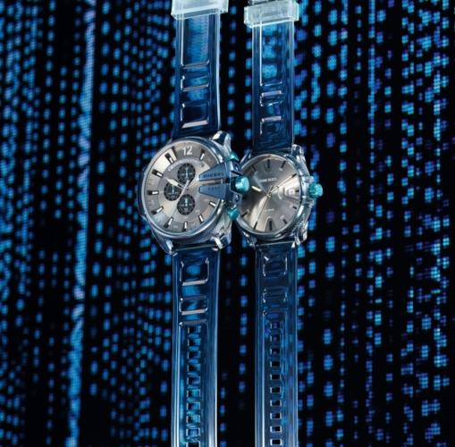 Diesel orologi Steve Aoki 2018: l'audace collezione Blue Transparency