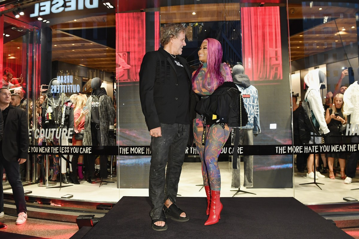 Diesel Nicki Minaj party Hate Couture Milano