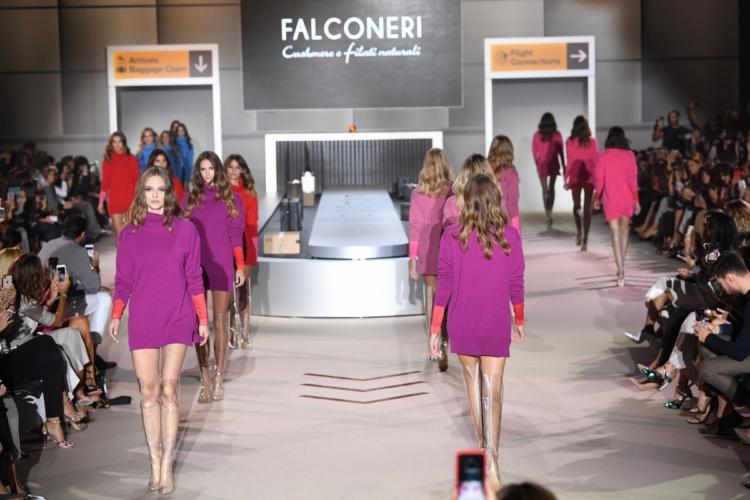 Falconeri collezione autunno inverno 2018 2019: la sfilata con Luca Argentero