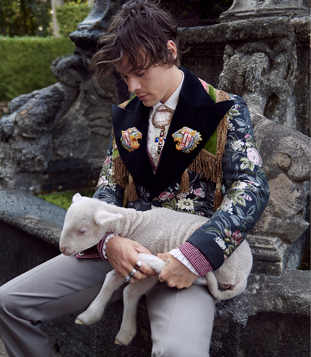 Harry Styles Gucci Men's Tailoring Cruise 2019