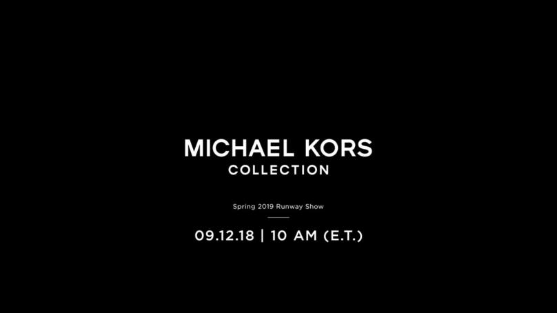 Michael Kors sfilata primavera estate 2019 New York  la diretta streaming  su Globe Styles. 9 September 2018 8d4272d6697