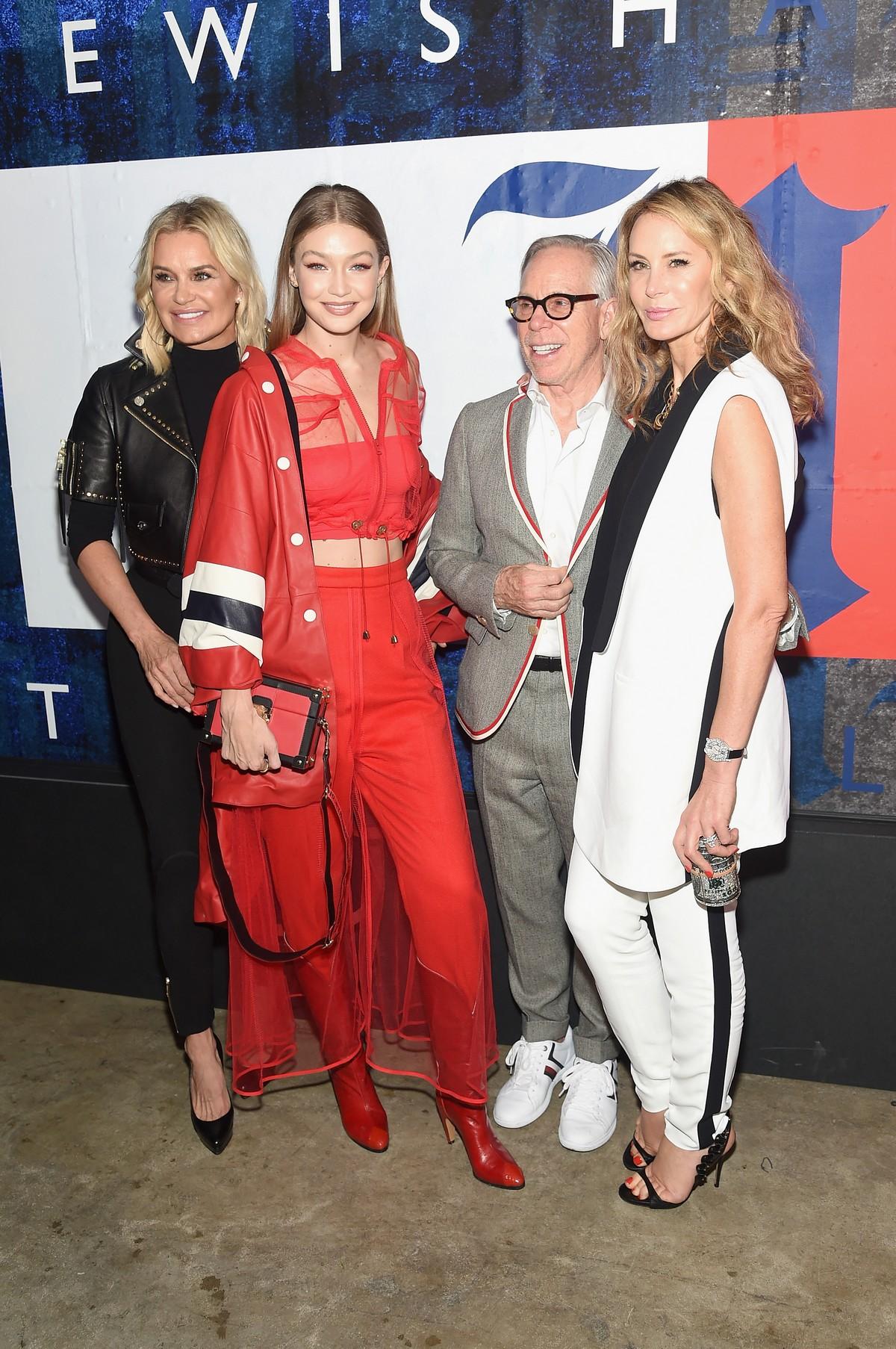 Tommy Hilfiger New York Fashion Week party Lewis Hamilton