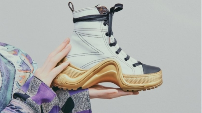 Louis Vuitton sneakers Archlight 2019: la suola scultura si colora d'oro per la Cruise