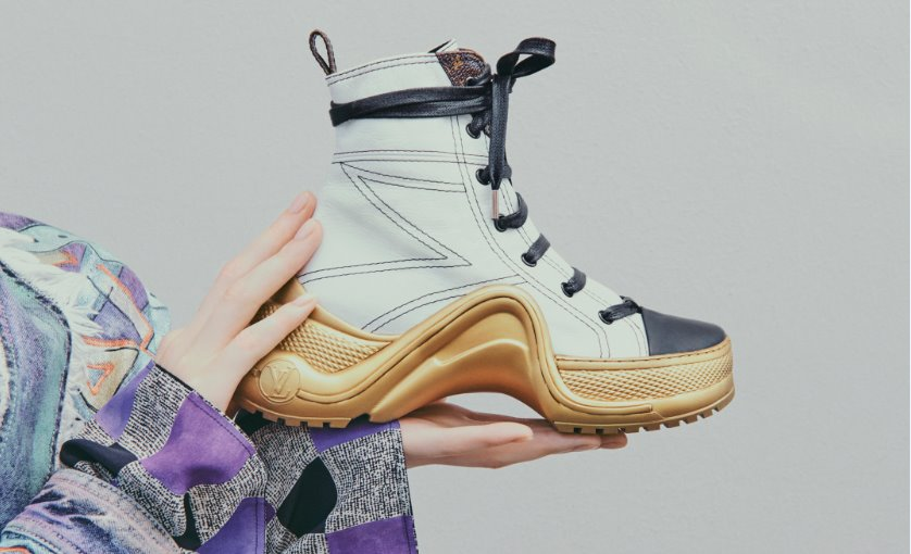Louis Vuitton sneakers Archlight 2019  la suola scultura si colora d oro per  la View Gallery (5 images) a3a42d1a904