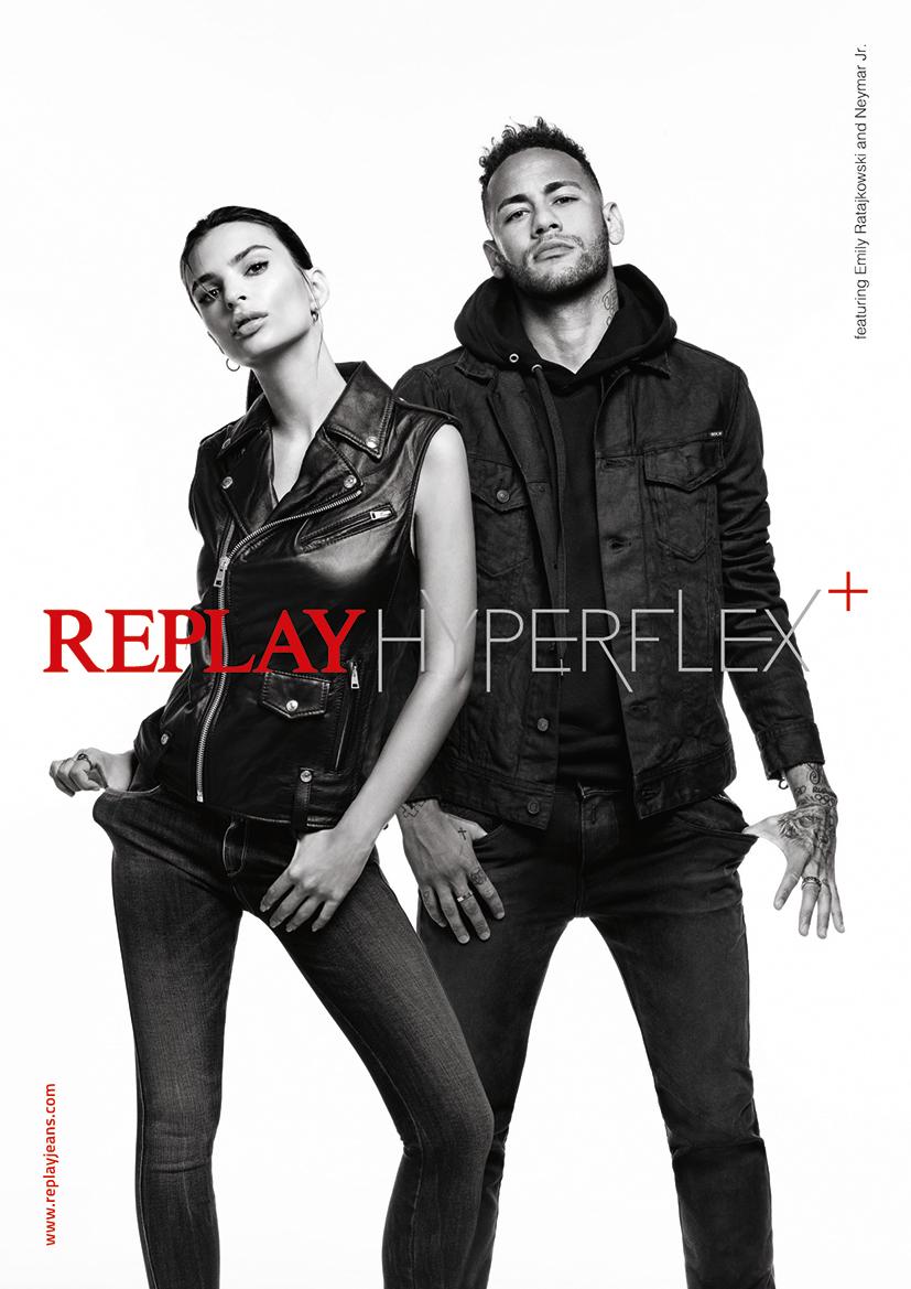 Replay Jeans Emily Ratajkowski e Neymar Jr