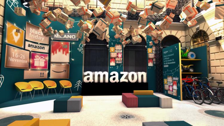 Amazon pop-up store Milano