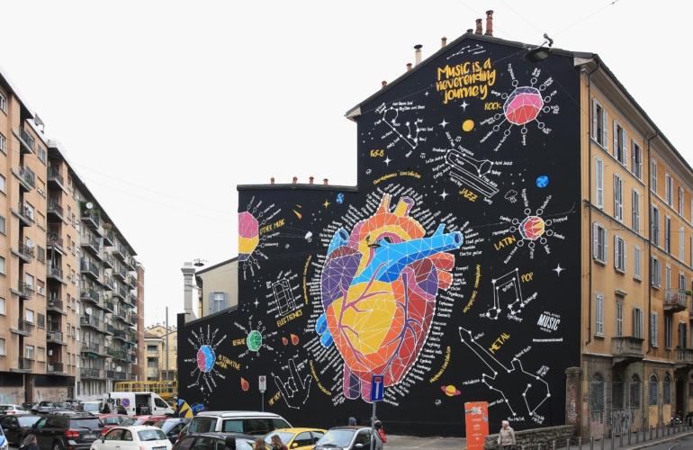 """Milano Music Week 2018: Porsche svela il wall art """"Music is a never ending journey"""""""
