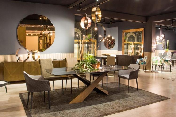 Riflessi arredamento novità 2018: i tavoli Round e Square, le sedute Brigitte, Cherie ed Angy