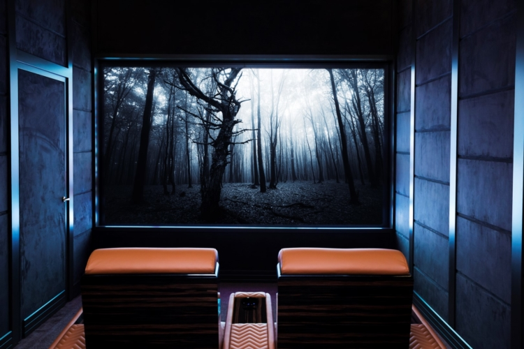 Sala cinema in casa moderna