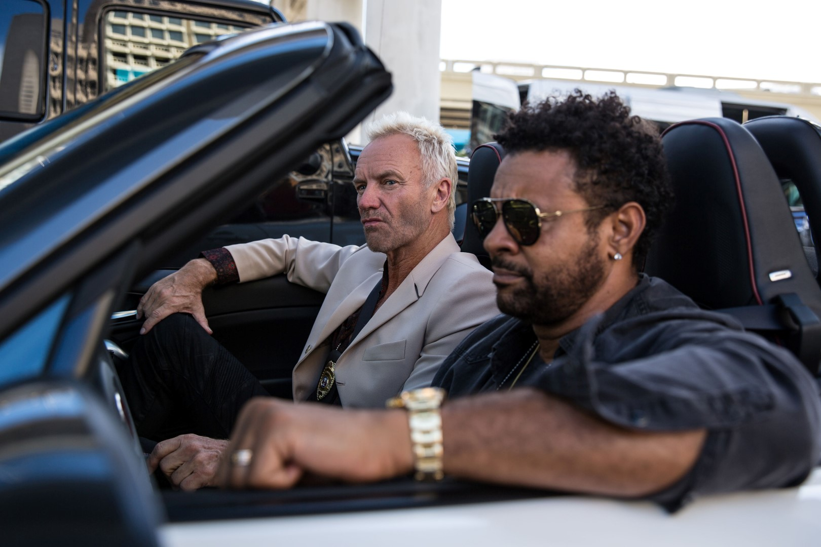 Sting e Shaggy Abarth 124 spider