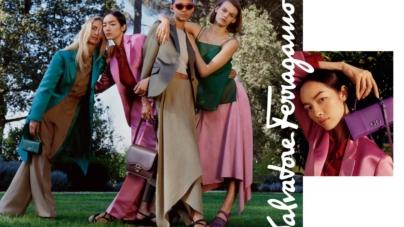 Ferragamo campagna primavera estate 2019: Patchwork of Characters