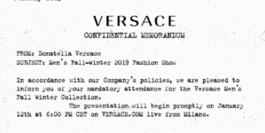 Versace sfilata autunno inverno 2019 Live Streaming: la diretta video