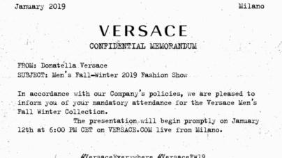 Versace sfilata autunno inverno 2019 Live Streaming: la diretta video