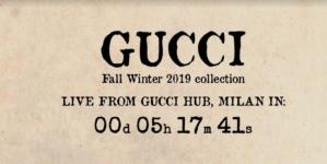 Gucci sfilata autunno inverno 2019 Live Streaming: la diretta video su Globe Styles