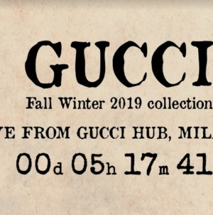 Gucci sfilata autunno inverno 2019 Live Streaming: la diretta video su Globe Styles