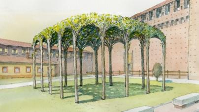 Artemide Castello Sforzesco Milano: l'illuminazione per la Pergola dei Gelsi