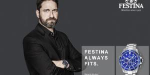 Festina Gerard Butler campagna 2019: Always Fits, l'attore pieno di fascino e carisma