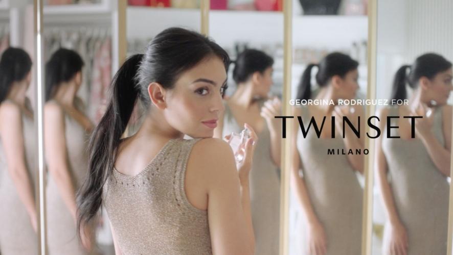 Georgina Rodriguez Twinset spot: la campagna con la fidanzata di Cristiano Ronaldo