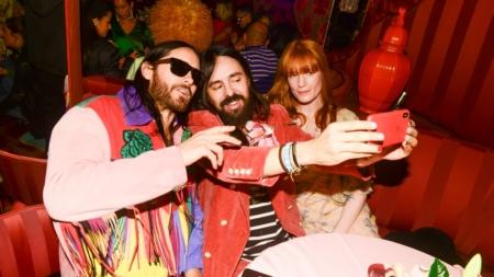 Gucci nuovi rossetti 2019: il party a New York con Jared Leto, Dani Miller e Florence Welch