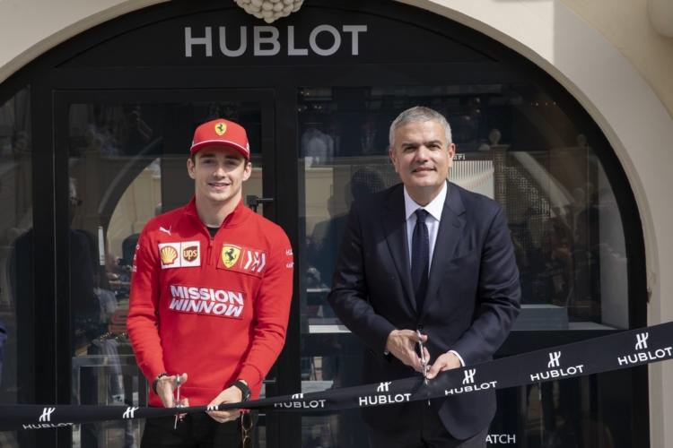 Hublot Casinò Monte Carlo boutique: l'inaugurazione con Charles Leclerc