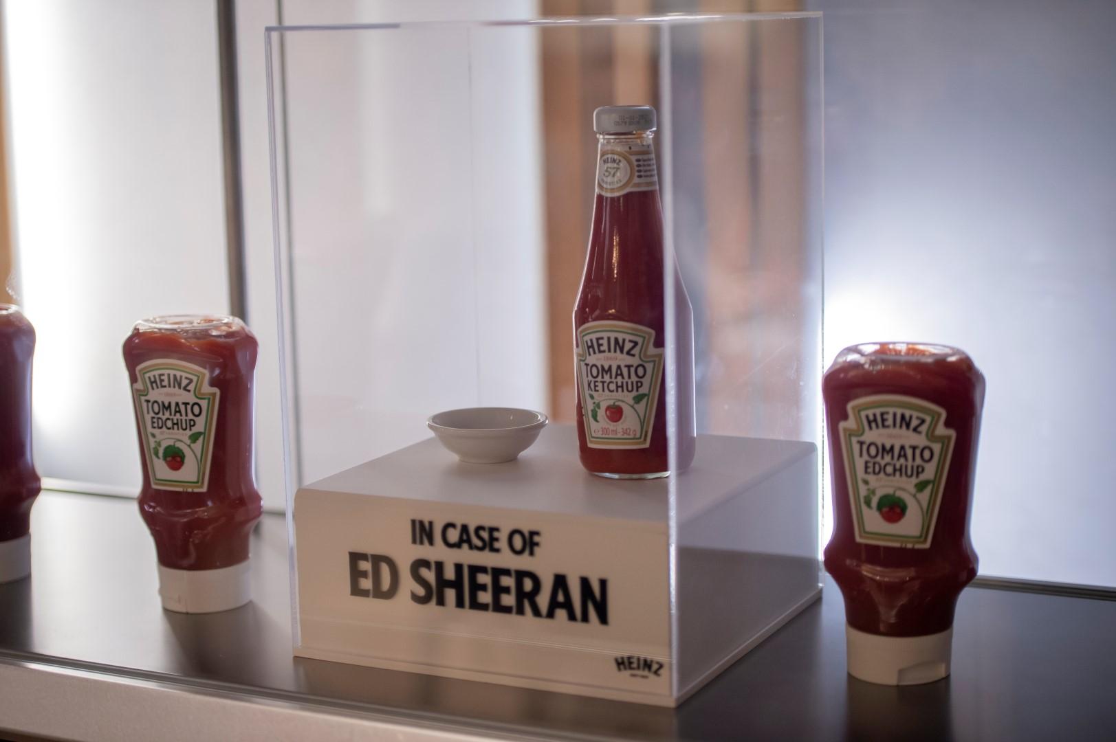 Ed Sheeran Heinz Ketchup