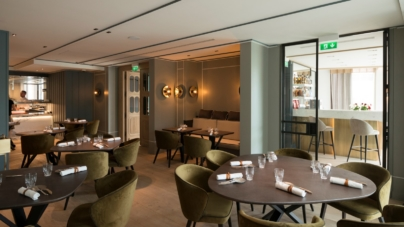 Applique da parete Radar Interior: le lampadeFractale per il ristoranteLe Cerisier en Ville